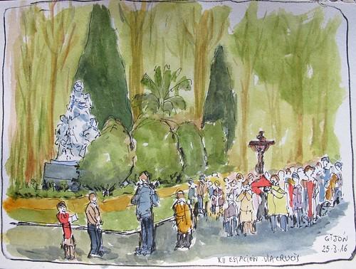 Via Crucis en el Parque. Gijón (Asturias) -Spain-