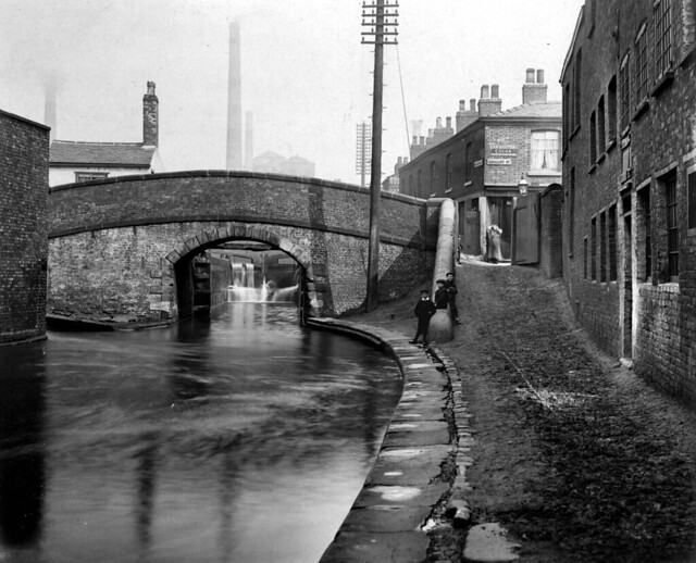 "Ancoats, ""Royle Street Bridge"", over Rochdale Canal 1908"