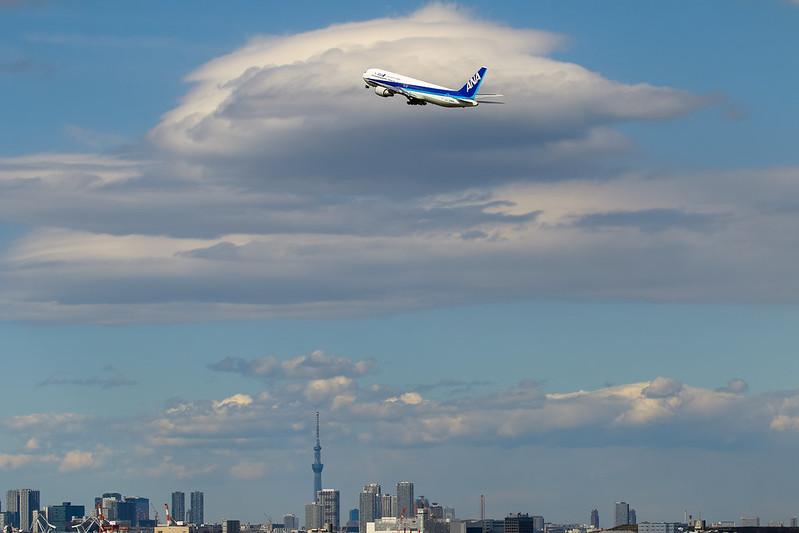 東京上空的雲