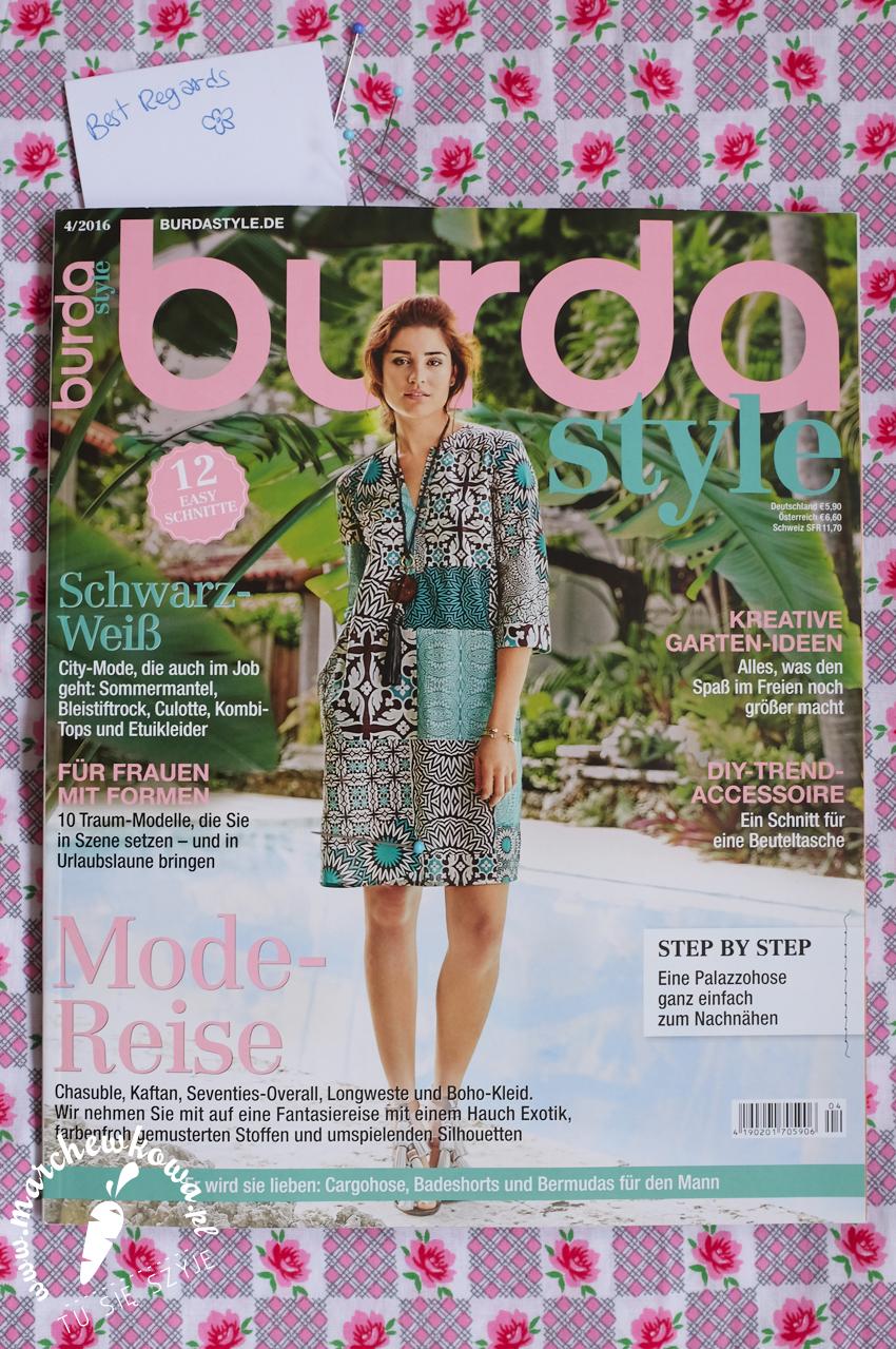 German edition, Burda Style Magazine, 4/2016, marchewkowa, sewing, szycie, Justyna Zawiejska