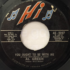 AL GREEN:YOU OUGHT TO BE WITH ME(LABEL SIDE-A)