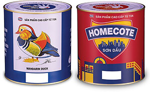 """sơn dầu bóng cao cấp """"Con Vịt"""" và """"Homecote"""""""