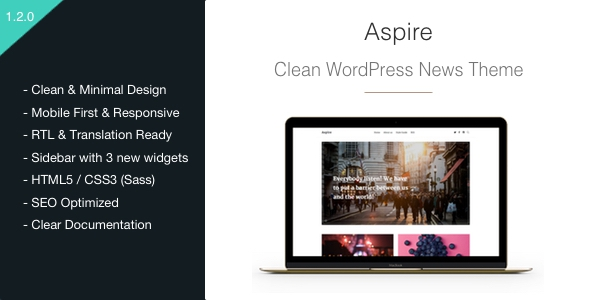 Aspire v1.2.8 – News & Magazine Clean WordPress Theme