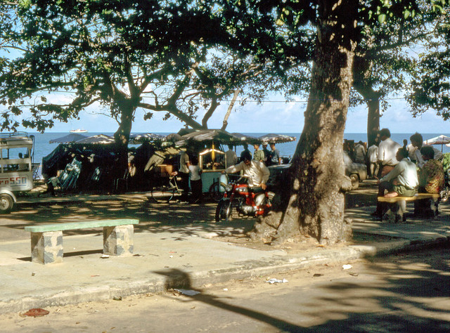 Front Beach Bars Vung Tau 1968 - Photo by Peter Edwards
