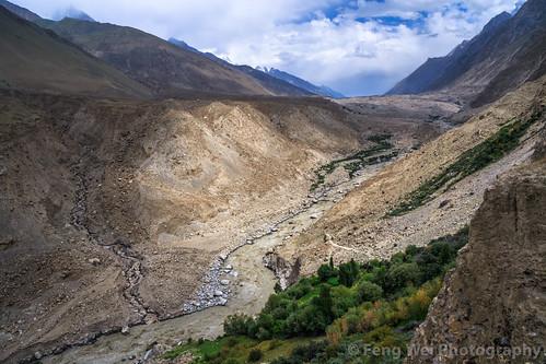 travel pakistan horizontal landscape outdoors asia karakoram pk colorimage hispar highangleview indiansubcontinent snowlaketrek gilgitbaltistan remoteposition hisparvalley centralkarakoramnationalpark hisparnagar