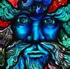 blue man face detail