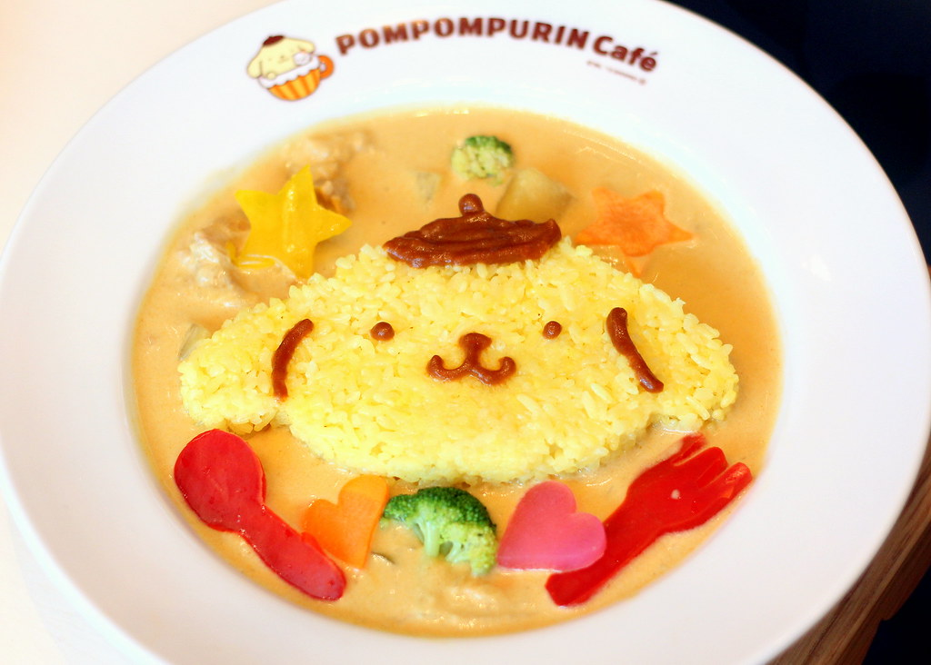 pompompurin cafe pompompurin coconut milk chicken curry