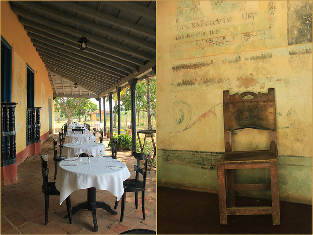 Small cafe in a beautiful hacienda near Trinidad