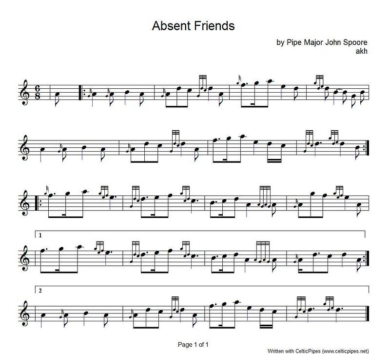 Bagpipe Sheet Music