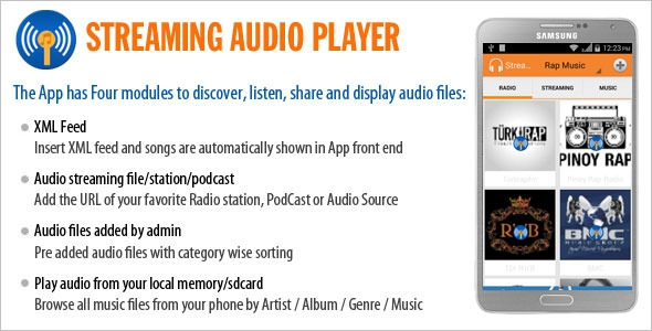 Codecanyon Streaming Audio Player
