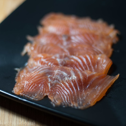 Whisky cured salmon