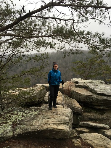 Susanna at Angel Falls overlook