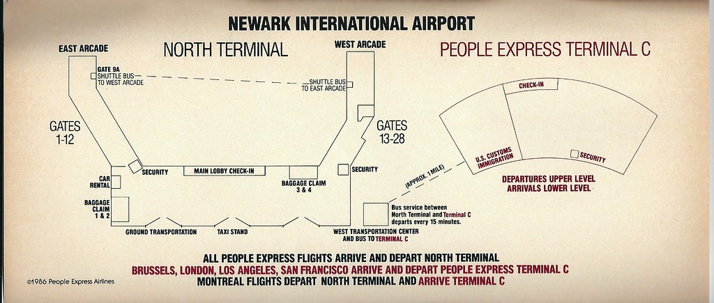 Airline Maps — This is part one in a three part series on Newark...