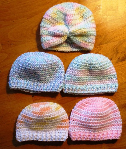 More Crocheted Baby Hats