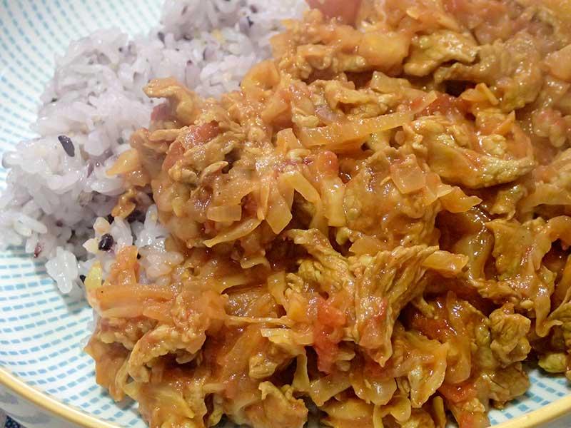 豚肉とキャベツのカレー