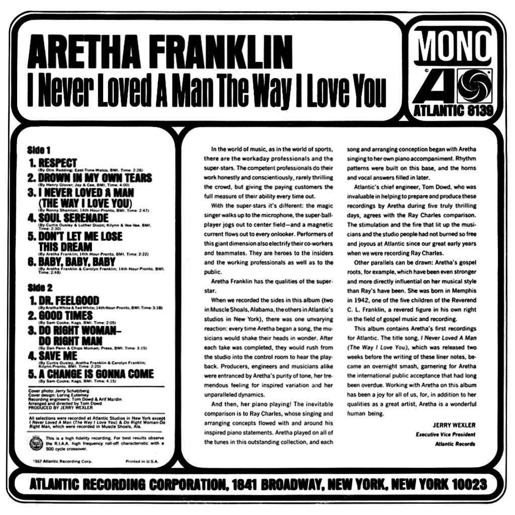 Aretha Franklin - Never Loved a Man the Way I Love You