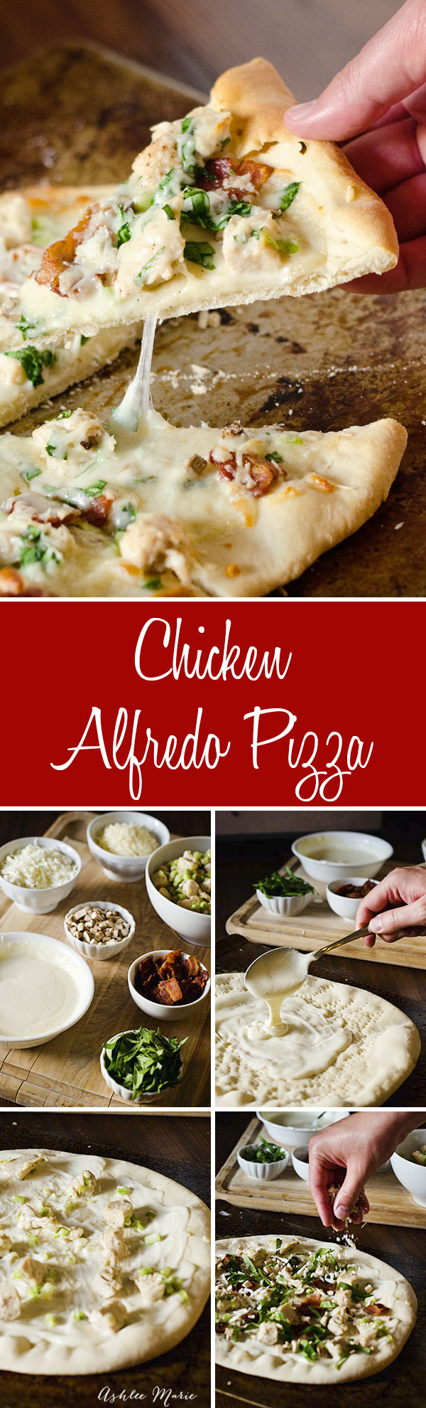 chicken alfredo pizza is amazing, I precook the crust half way so you don't dry out the toppings too much