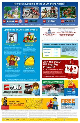 LEGO March 2016 Store Calendar