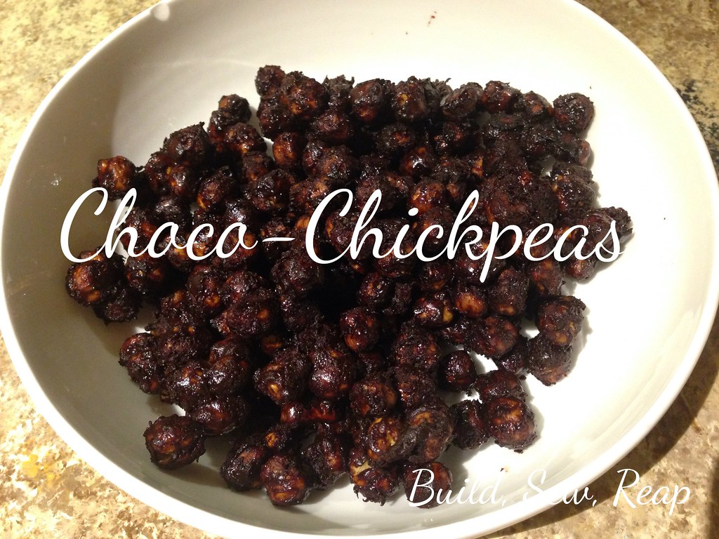 Choco-chickpeas by Julie at Build, Sew, Reap