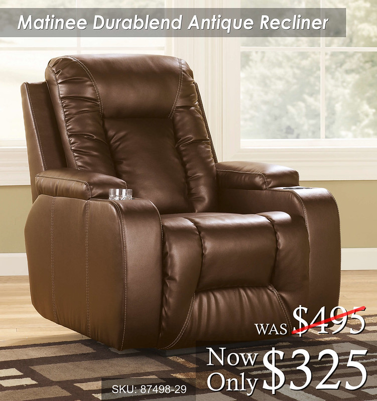 Matinee Durablend Antique Recliner