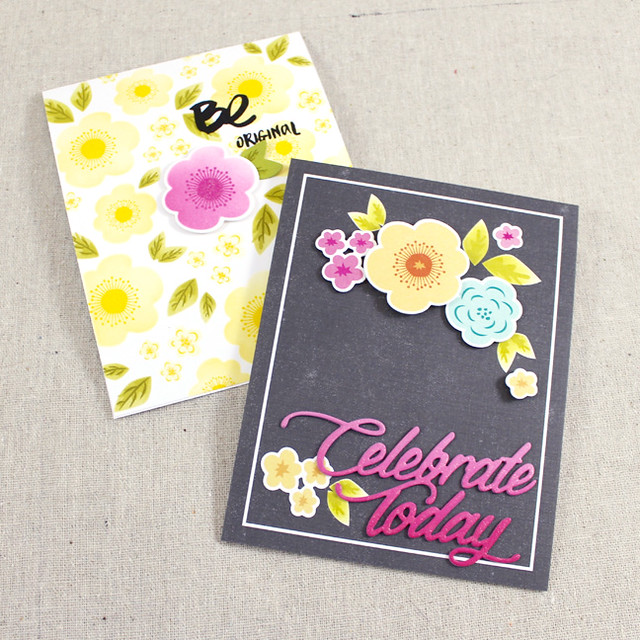 Color Pop Floral Cards