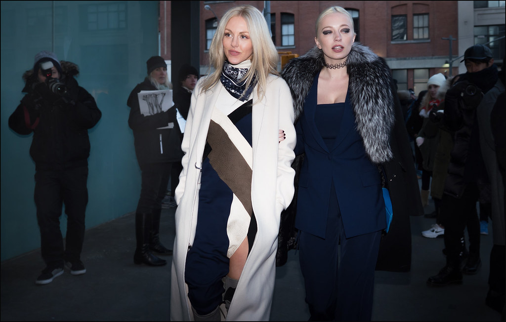 Shea Marie and Caroline Vreeland at DVF  NYFW 2-2016