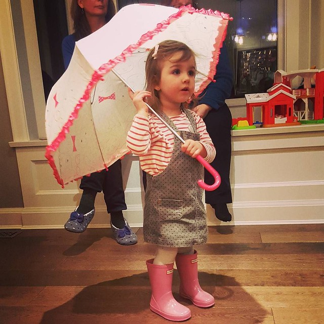 What do you do when you're ridiculous? You buy your Goddaughter Hunter boots for her birthday.