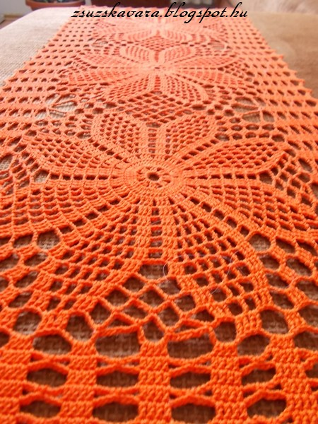 spring, colorful, doily, table runner, (2)