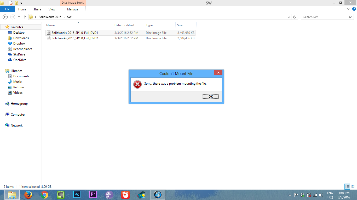 """How To Fix """"Couldn't Mount File"""" Error 1"""