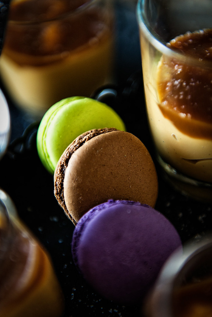 french macarons details photo