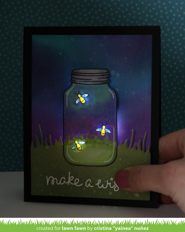 Make a wish LED card - Lights on