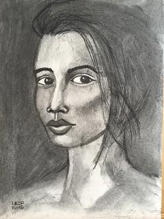 Week 13 - Charcoal Three Quarter Portrait