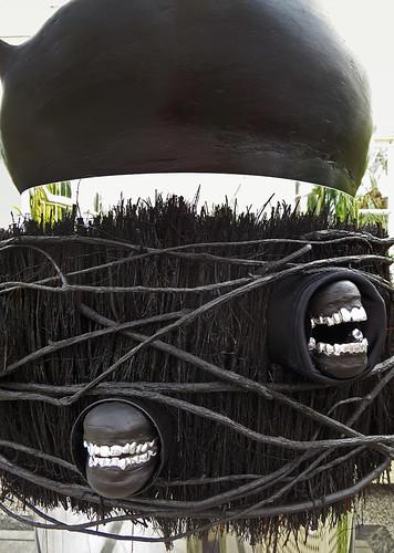A bizarre sculpture in Dublin Botanical Garden
