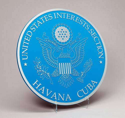 Podium seal, former U.S. Interests Section Havana, Cuba