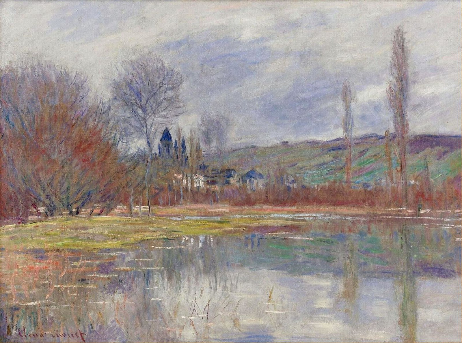 The Spring at Vetheuil by Claude Monet, 1881