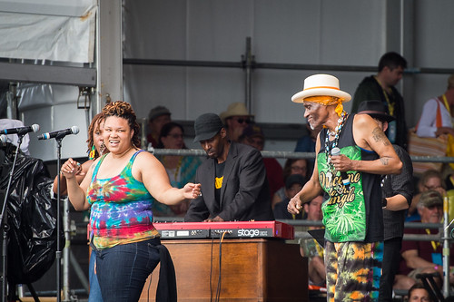 Cyril Neville & SwampFunk at Jazz Fest 2016 Day 4.  Photo by Kate Gegenheimer