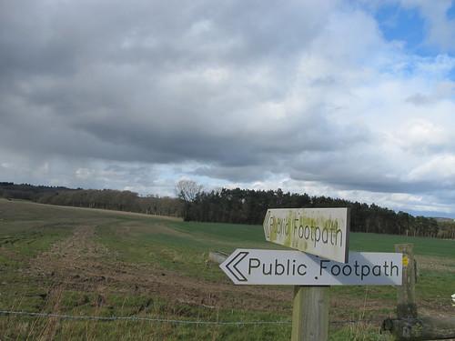 Footpath Signposts, Dunbridge Hill