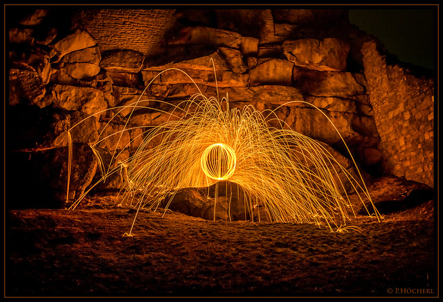 Lightpainting Flossenbürg