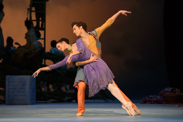 Francesca Hayward and James Hay in The Winter's Tale  © ROH 2016.  Photograph by Bill Cooper