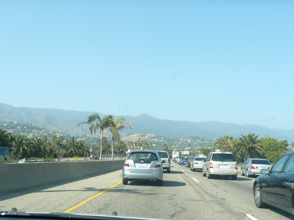 Traffic jam near Santa Barbara