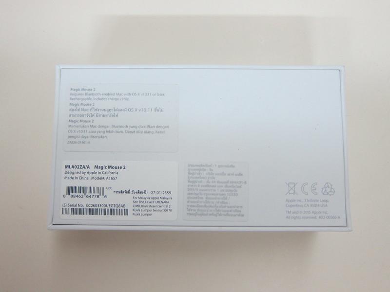 Apple Magic Mouse 2 - Box Back