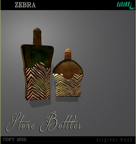 LD Stone Bottles Zebra