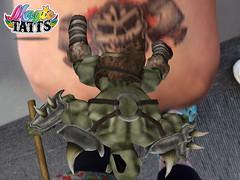 3D tattoo, warrior