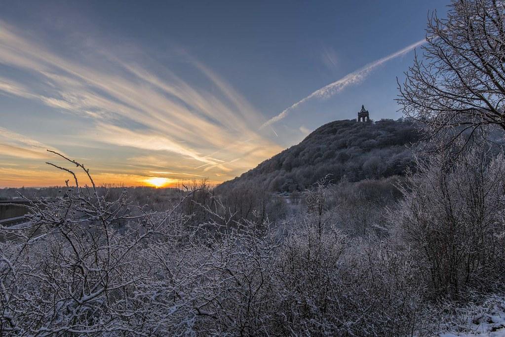 Kaiser Wilhelm Denkmal im Winter