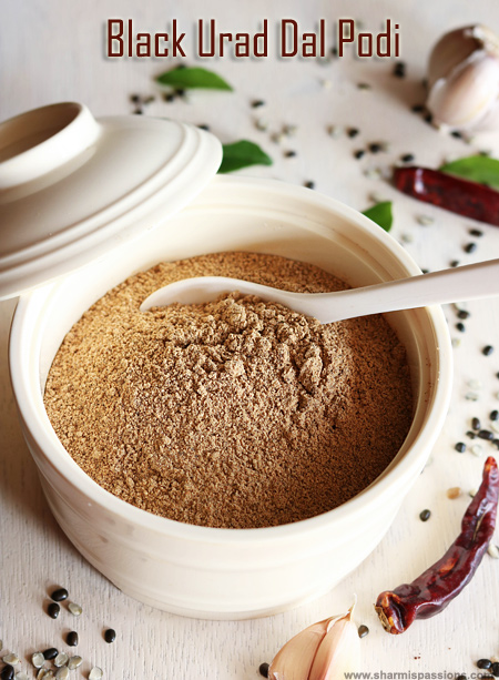 Black Urad Dal Idli Podi Recipe
