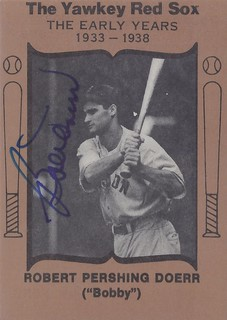 1972 The Yawkey Red Sox (Team Issue) - Bobby Doerr #NN (Second Base) (Hall of Fame 1986) - Autographed Baseball Card (Boston Red Sox)