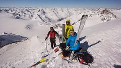 Robert, Tomasz i ja na szczycie Fluchtkogel (3497m)