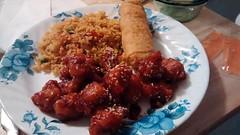 Sesame Chicken Dinner.