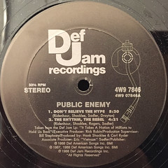 PUBLIC ENEMY:DON'T BELIEVE THE HYPE(LABEL SIDE-A)