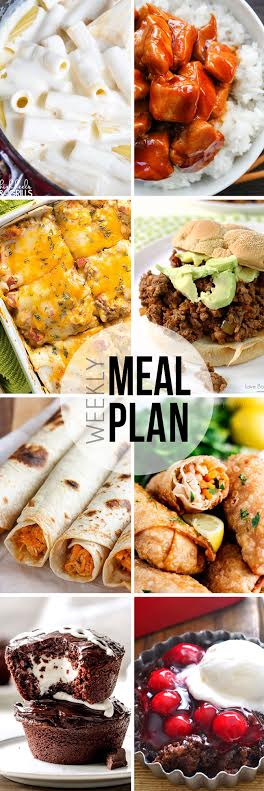 Week 34. Collaborative weekly meal planning. 9 bloggers. 6 dinner ideas, one-weekend breakfast plus 2 desserts every single week equals one heck of a delicious menu!